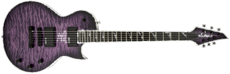 JACKSON PRO MONARKH QUILT MAPLE TOP TRANSPARENT PURPLE BURST