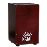 Кахон экстра-большой NATAL DRUMS CJAN-XL-SW-RR CAJON EXTRA LARGE DARK RED WITH DARK RED PANEL - JCS.UA
