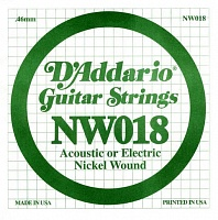 Струна D`ADDARIO NW018 XL Nickel Wound 018 - JCS.UA