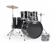 Ударная установка NATAL DRUMS DNA ROCK DRUM KIT SILVER HARDWARE PACK  - JCS.UA