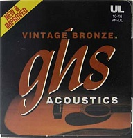 Струны GHS STRINGS VN-12CL VINTAGE BRONZE  - JCS.UA