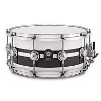 Малый барабан NATAL DRUMS CAFE RACER SNARE 14x6.5 PIANO WHITE BLACK SPARKLE DOUBLE SPLIT - JCS.UA