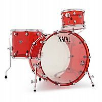 Ударная установка NATAL DRUMS ARCADIA ACRYLIC TRANSPARENT RED - JCS.UA