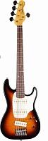 Бас-гитара GODIN 034543 - Shifter 5 Vintage Burst RN with Bag - JCS.UA