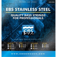Струны EBS SS-ML STAINLESS STEEL STRINGS MEDIUM LIGHT 6-STRINGS - JCS.UA