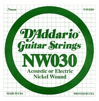 Струна D`ADDARIO NW030 XL Nickel Wound 030 - JCS.UA