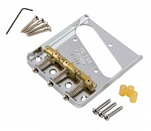 Бридж FENDER BRIDGE ASSEMBLY FOR AMERICAN VINTAGE HOT ROD TELECASTER WITH COMPENSATED BRASS SADDLES NICKEL - JCS.UA