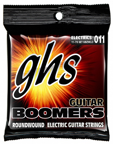 GHS GBZWLO - струны для электрогитары, никелир.сталь, кругл.обмотка; (011-013-017-36w-52-70)
