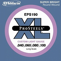 Струны D`ADDARIO EPS190 XL PRO STEELS CUSTOM LIGHT 40-100 - JCS.UA